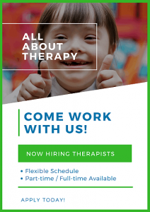 Look for pediatric occupational therapists